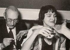 Madonna și William Burroughs la Studio 54.