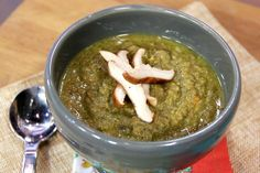 "Scroll down on the page to find the recipe ""Broccoli Lentil Soup"" - it is really good but I recommend not blending it."