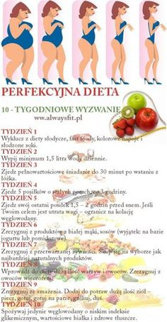 Perfekcyjna dieta - 10 - tygodniowe wyzwanie!!! Dieet Plan, Straw Crafts, Haha, Healthy Eating, Healthy Food, Health Fitness, Food And Drink, Weight Loss, Healthy Recipes