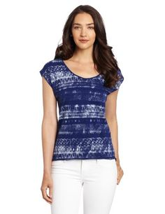 Calvin Klein Jeans Women%27s Spray Lace Knit Top