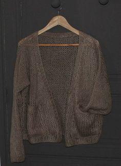 DiY, Un petit Tuto Gilet Cocoon - Eléawool - Knitting 01 Free Knitting, Baby Knitting, Knitting Patterns, Crochet Patterns, Knitting Sweaters, Angora, Diy Hat, Fall Fashion Outfits, Knit Cardigan