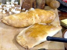 Ricotta and Ham Calzone recipe from Mario Batali via Food Network