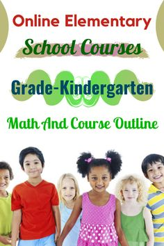 Online Elementary School Courses Grade-Kindergarten Math And Course Outline #Kindergarten #elementaryschoolcourse Accredited Online High School, Course Offering, English Language Arts, School Programs, School Hacks, Kindergarten Math, Online Courses, Elementary Schools, Outline