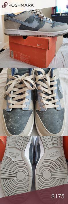 CLASSIC 2003 USED Worn Size 11 Adidas Pro Model Basketball Shoes Platinum Blue