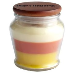 Candy Corn Sizzlewick™ Candle - Pier 1 holiday decor - I wish the website was scratch and sniff ;)
