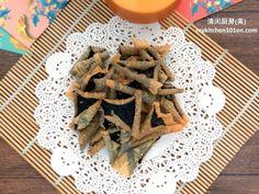 Crispy Seaweed Cracker (Nori Cracker)   MyKitchen101en.com Spring Roll Pastry, Crispy Seaweed, Chinese New Year Cookies, Spring Rolls, 2 Ingredients, Crackers, Sushi, Roast, Appetizers