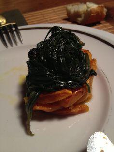 zucca al forno e catalogna ripassata piccante