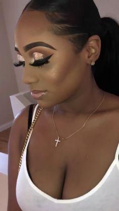 22 Super Ideas For Wedding Makeup For Black Women Classy Makeup Goals, Makeup Inspo, Makeup Inspiration, Makeup Ideas, Makeup Guide, Makeup Designs, Flawless Makeup, Beauty Makeup, Hair Makeup