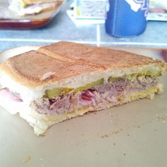 """Classic Cuban Midnight (Medianoche) Sandwich 