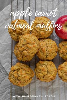 Apple carrot oatmeal breakfast muffins make your morning simple again. An easy recipe that can be made in one bowl is a win for busy families everywhere. Adding in an apple and few carrots make these breakfast muffins healthy and delicious. #muffins #oatmealmuffin #applecinnamon #oatmealbreakfastmuffins Healthy Breakfast Muffins, Healthy Muffin Recipes, Ww Recipes, Other Recipes, Dessert Recipes, My Favorite Food, Favorite Recipes, Apple Cinnamon Oatmeal, Simple Baking