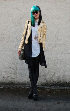 80s metal/punk  Cool look - love the layering.