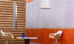 """Elitis Tempo Sirtaki is an wide oversized horizontal stripe panoramic mural wall covering that captures a retro spray paint feel.  Sold by 4 panels of 27"""" width X 118"""" height roll"""
