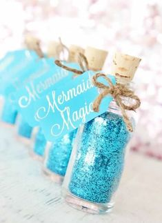 Mermaid Party Favor - Mermaid Birthday Party - Mermaid Party Supplies - Mermaid Party - Mermaid Gift for Little Girls - Under the Sea Party (Bottle Gift Party Favors) Mermaid Party Favors, Mermaid Theme Birthday, Little Mermaid Birthday, Little Mermaid Parties, Mermaid Gifts, Birthday Party Themes, 7th Birthday, Party Favours, Shower Favors