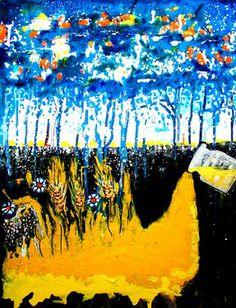 """Saatchi Online Artist Elena Buftea; Painting, """"adventure of colors"""" #art"""
