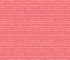 Waterwaves Coral fabric by leanne for sale on Spoonflower - custom fabric, wallpaper and wall decals