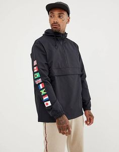 e3663a349f69a HUF Regional Overhead Jacket With Tour Print In Black Huf, Regional, Asos,  Leather
