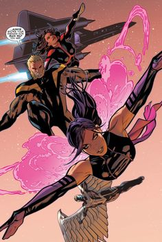 Uncanny X-Men #4 Archangel, Monet, Psylocke, and Sabretooth