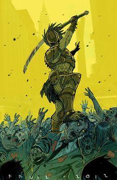 Zombie vs Predator by Francisco Ruiz.