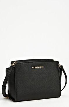 be281070c99 MICHAEL Michael Kors  Medium Selma  Saffiano Leather Crossbody Bag  Pinterest   BrittanyNiemer☼