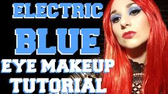 Electric Blue Eye Makeup Tutorial - Sex and Candy Cosplay Look Electric Blue Eyes, 2015 Music, Blue Eye Makeup, Cosplay, Candy, Youtube, Sweet, Toffee, Sweets
