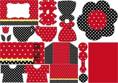 Red, Black and White Polka Dots: Free Printable Invitations.
