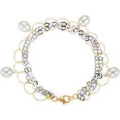 "Freshwater Cultured Pearl 7.5"" Bracelet"
