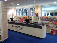 Retail Counter for Banks Musicroom
