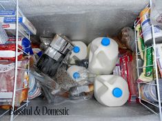So I'm reading this blog and apparently this lady only grocery shops once a month and freezes milk (EUREKA). I LOVE THIS IDEA but I need a bulk freezer. I freaking hate grocery shopping, especially because I have to do it once a week for work! Going to have to spend some time on this blog to work it out! FO SHO!