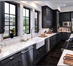 New Kitchen, Kitchen Ideas, Kitchen Design, Tudor House, Beautiful Kitchens, Kitchen Remodel, House Ideas, Kitchen Cabinets, House Design