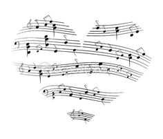 music...cool tattoo idea with musical notes of your favorite song