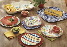 You'll love our festive melamine dishes and the splash of color to they bring to any gathering!