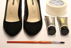 When your fave pair of shoes get old or scuffed and you don't want to throw them out, paint them, lol :)