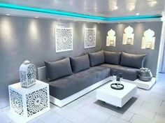 Salon Plus Source Moroccan Room, Moroccan Interiors, Moroccan Decor, Arabic Decor, Islamic Decor, Sofa Design, Furniture Design, Moroccan Design, Luxury Sofa