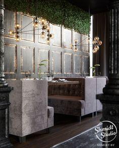 Проект интерьера ресторана в г.Москва, 100м.кв. | Студия дизайна интерьера Shmidt Studio