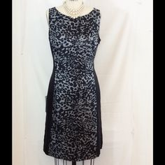 "Ann Taylor Shift Dress Sz 6 NWT Ann Taylor silk, shift dress. Gray and black, keyhole opening at back neck, side seam zipper, fully lined. Great for work. Shoulder to hem length is 36"". Ann Taylor Dresses"