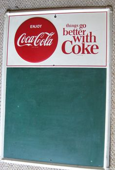 Vintage coca-cola metal cafe menu Board. $169.00, via Etsy.
