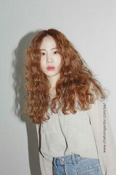 ginger bohemian perm hair