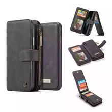 ea80c764aa7d58 Fynn Depot I Iphone X Leather Phone Wallet Case with Ziplock Card Slot Real  Leather Wallet