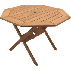Dress up the look of your outdoor dining area with the folding patio table made from stylish eucalyptus wood. The octagonal shape of this dining table offers a unique look and ample seating. Polistan treatment ensures protection from insect damage.