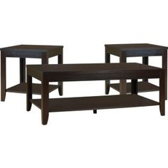 Aspen 3-Piece Coffee and Two End Tables Package | The Brick