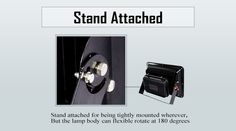 stand attached LED flood light CL1 with stand attached for being tightly mounted can flexible rotate at 180 degrees
