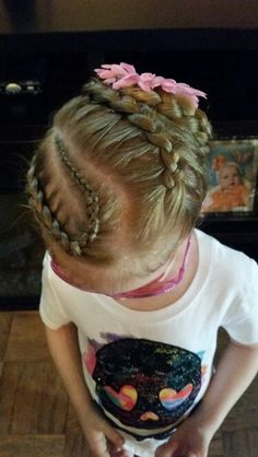 Braid twisted to the back of the head with a flower Braids, Hairstyles, Flowers, Fashion, Haircut Designs, Moda, Cornrows, Pigtail Hairstyle, Hairdos