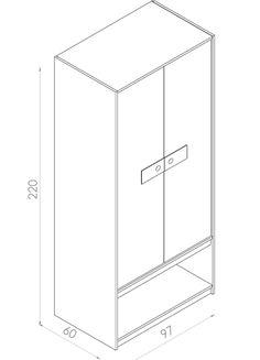 Guarda-Roupa Sistema de armário duas portas e nicho