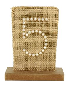 Wedding Table Numbers - Click through for project instructions.