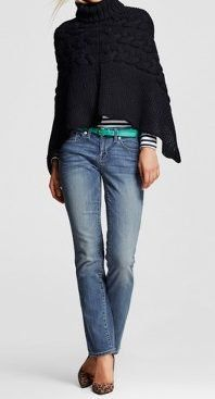 fashion for women over 60 - mossimo straight leg jeans