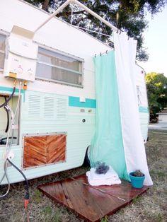 Shower in a camper #camper #shower | Van life, Camper van