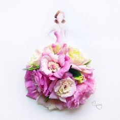 Imagem de flowers, art, and dress