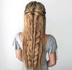 braid, hairstyle, and hair image