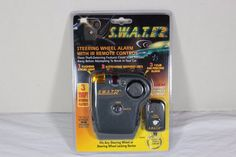 SWAT R SWA03R STEERING WHEEL ALARM w/ IR REMOTE CONTROL SECURITY ANTI-THEFT #SWATR