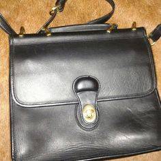 Black bag Black bag... Leather... Look a like... Good shape...gold hardware... Medium sized Bags Crossbody Bags